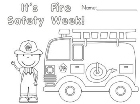 free fire safety week coloring page kindergarten fun