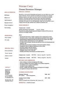 Human resources manager resume, job description, template