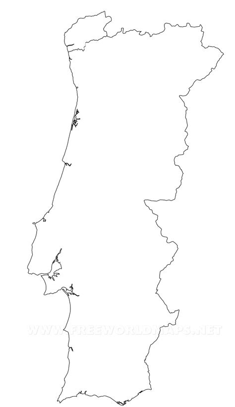 Portugal Map Outline by Portugal Political Map