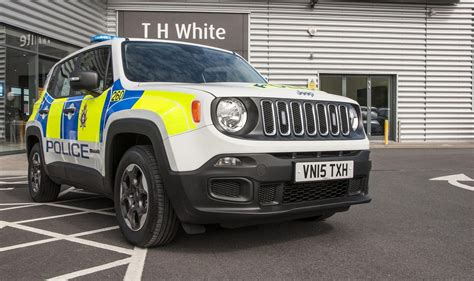police jeep jeep renegade being tested as police car in britain