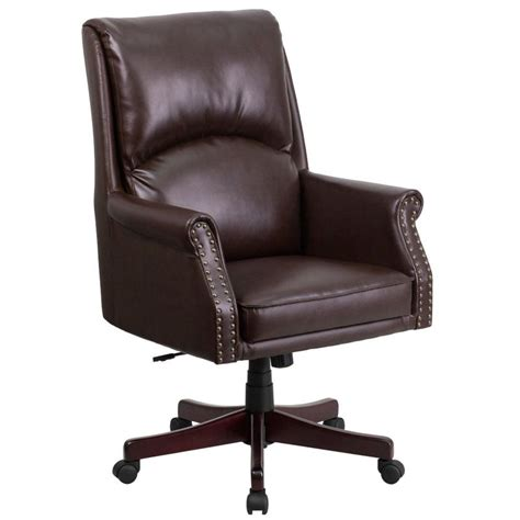 Brown Desk Chair by Brown Leather Desk Chair By Flash Furniture