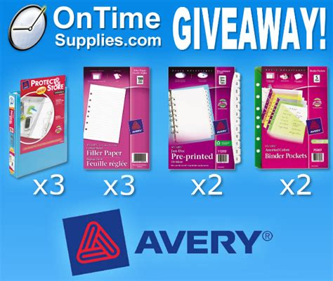 Binder Giveaway - avery mini binders accessories giveaway