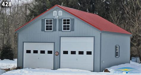 two car garages 2 car 2 story garage two story garage horizon structures