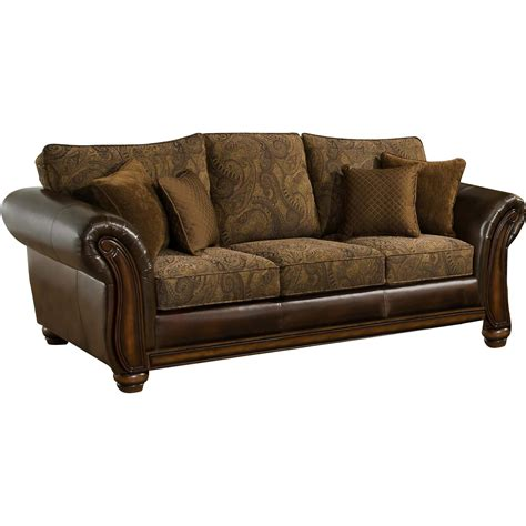 Simmons Upholstery Brown Leather Zephyr Queen Sleeper Sofa Leather Upholstery Sofa