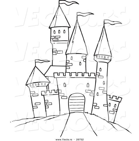 coloring pages castle tower printable black and white art vector of a cartoon path