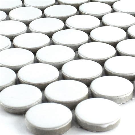 mosaikfliesen rund keramik mosaik drop rund weiss uni tg17013m