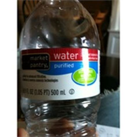 Market Pantry Water by Market Pantry Purified Water Calories Nutrition Analysis