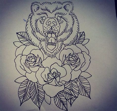 cute for california bear and roses tattoos pinterest