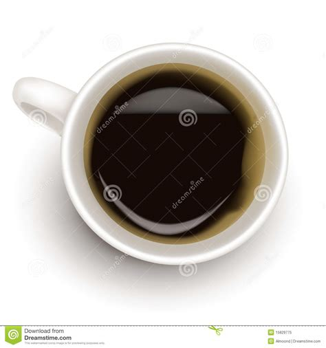 top view of black coffee cup royalty free stock photo