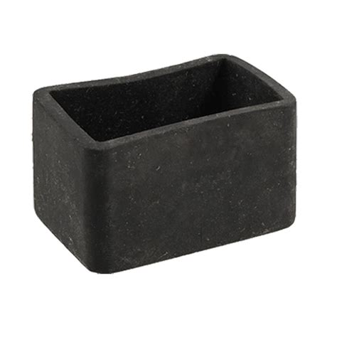 rubber caps for patio chairs table chair leg black rubber rectangle 25mm x 38mm