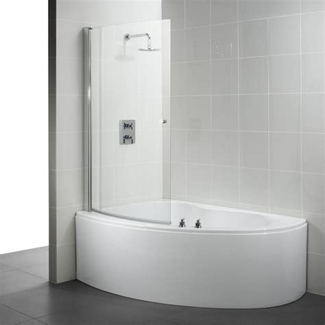 corner bath with shower screen corner bathtub and shower ideal standard create offset