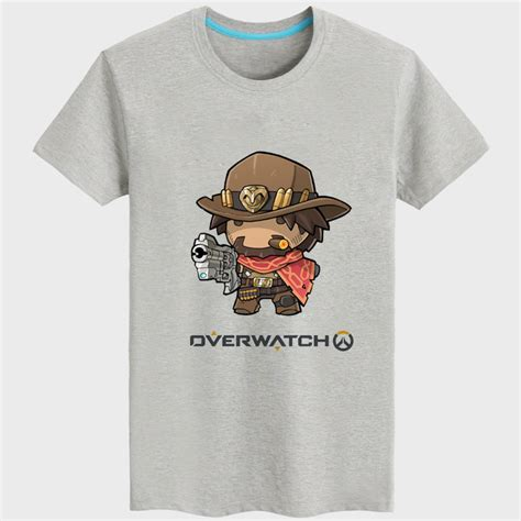 T Shirt Mccree Overwatch Yellow Color Overwatch Mccree Black Sleeve T