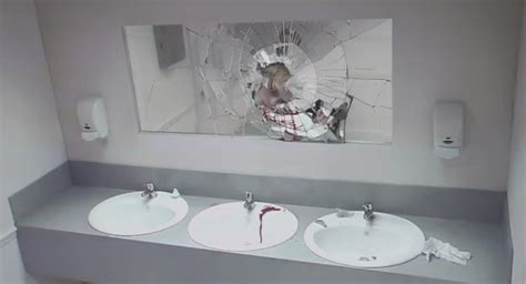 Bathroom Mirror Prank Bathroom Prank Scares Drivers From Driving
