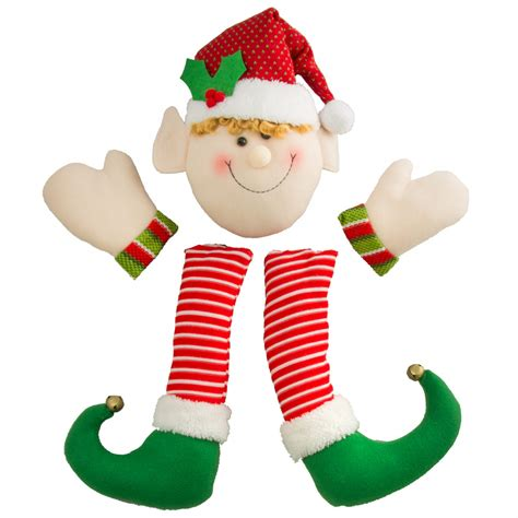 christmas plush elf wreath accent xc9879 craftoutlet com