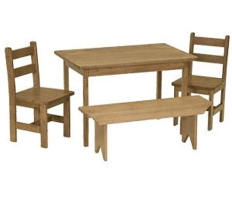Childrens Dining Table Amish Maple Wood Dining Table Set