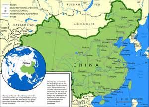 cities map 2010 2011 printable major china
