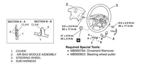 removing clock spring 1998 mitsubishi diamante 1998 chevrolet 3 1l fi ohv 6cyl repair guides