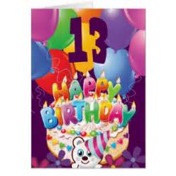 birthday card for 13 year happy 13th birthday cards photocards invitations more
