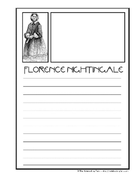 florence nightingale l template florence nightingale notebooking pages