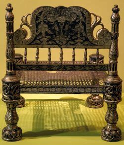 Old Wood Chairs Chair From Bengal 16th Century Carved Lacquered And