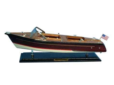 speed boat models buy wooden chris craft runabout model speedboat 20 inch