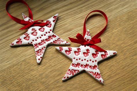 x decorations 2x ceramic decorations felt