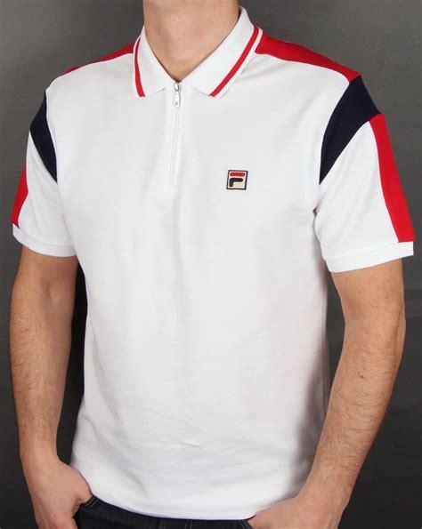 Polo Shirt Fila Keren Terlaris fila vintage fabbiano polo shirt white zipped cotton mens