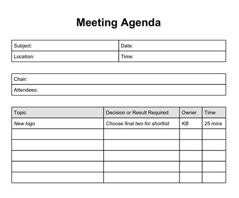 Best Meeting Agenda Template Mughals Agenda Template Free