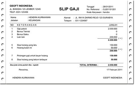 contoh slip gaji malaysia excel downlllll