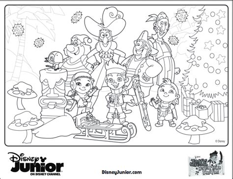 10 Disney Holiday Crafts For Kids Jake Neverland Coloring Pages