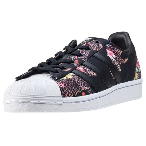 adidas floral shoes adidas superstar w womens trainers black floral new shoes