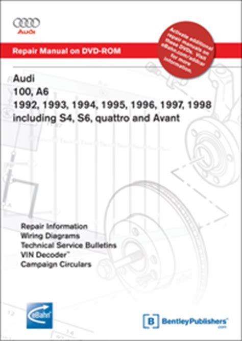 book repair manual 1992 audi 100 free book repair manuals audi 100 s4 sedan wagon 1992 bentley publishers repair manuals and automotive books