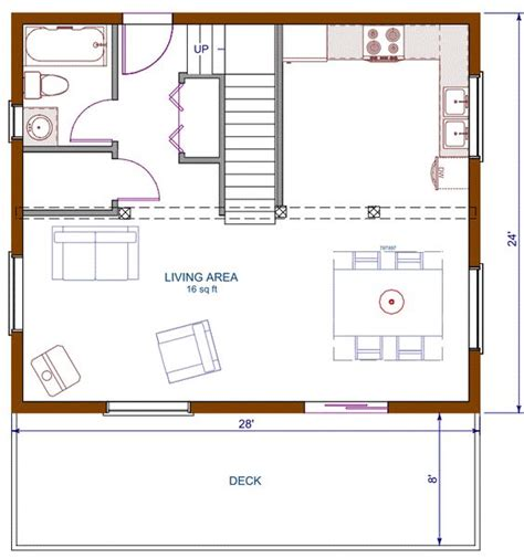 loft conversion open plan ground floor floor plan cottage 672 sqft footprint b 1200 sqft