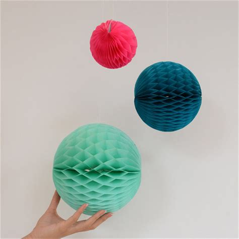 How To Make Tissue Paper Balls To Hang - 10cm 4inch mini colorful tissue paper honeycomb flowers