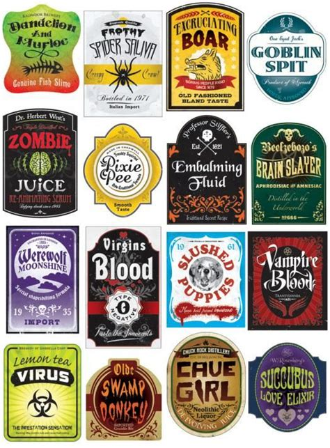 halloween drink names halloween drink label festival collections