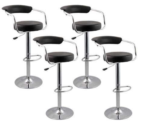 Bar Stools For Less Than 20 by 4 X Designer Bar Stool Kitchen Chair Gas Lift Black