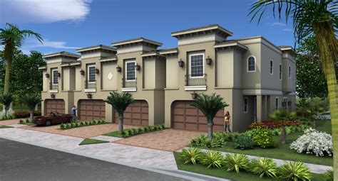 Multi Family Homes Plans la bella flor de westshore townhomes