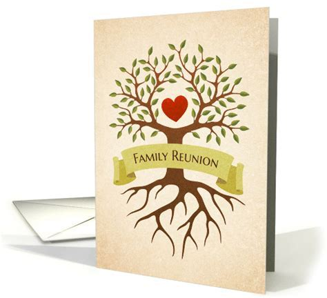 Family tree family reunion invitation card (656393)