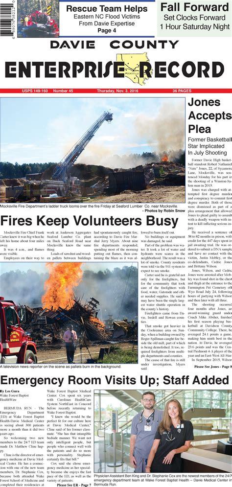 Davie County Records Davie County Enterprise Record Carolina Press
