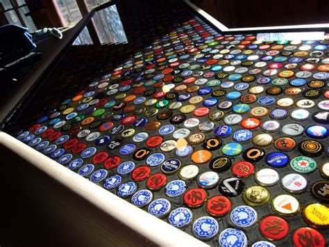 beer bottle cap bar top bottle cap bar made with epoxy crafts projects i may