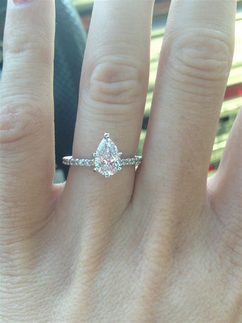 Wedding Rings Pear Shaped by Cool Wedding Rings For Newlyweds Moissanite Engagement