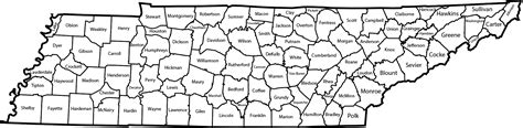 map of tennessee counties file map of tennessee counties labeled png wikimedia commons
