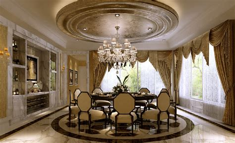 Circular Dining Room with 3d Circular Design For European Style Dining Room