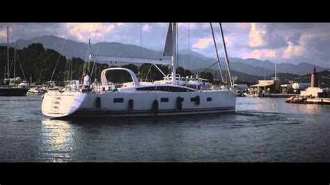 single handed sailing boats jeanneau 64 yacht new thruster use and docking single