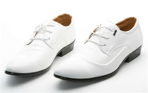 new fashion s white style shine lace up shoes prom