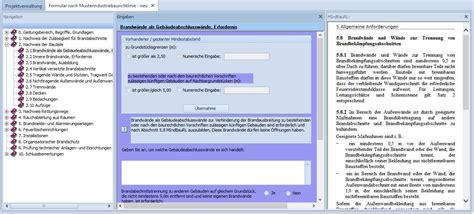 Muster Industriebaurichtlinie Brandschutz Software Programm Konzept Wesa