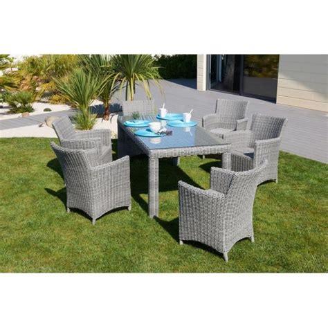 Table De Jardin Avec Chaise by Ensemble De Jardin Elegance Table Avec 6 Chaises R 233 Sine