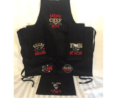apron embroidery pattern discount 30 grill bbq apron for men embroidery barbecue