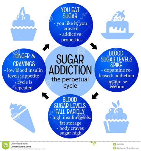 Effects Of Sugar Detox by Leptin Illustrations Vector Stock Images 12