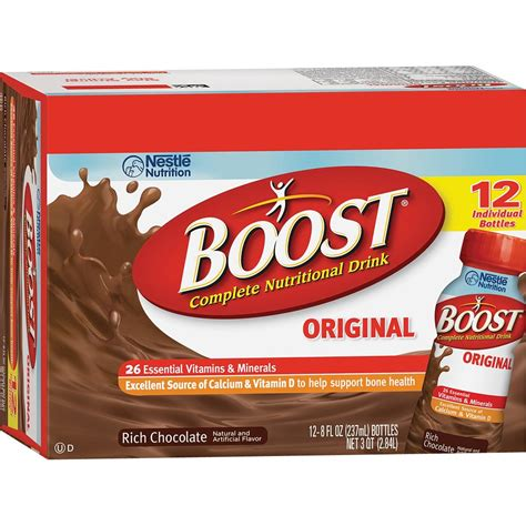 Original Chocolate boost original chocolate ready to drink 8 oz pack of 12 protein ready to drink